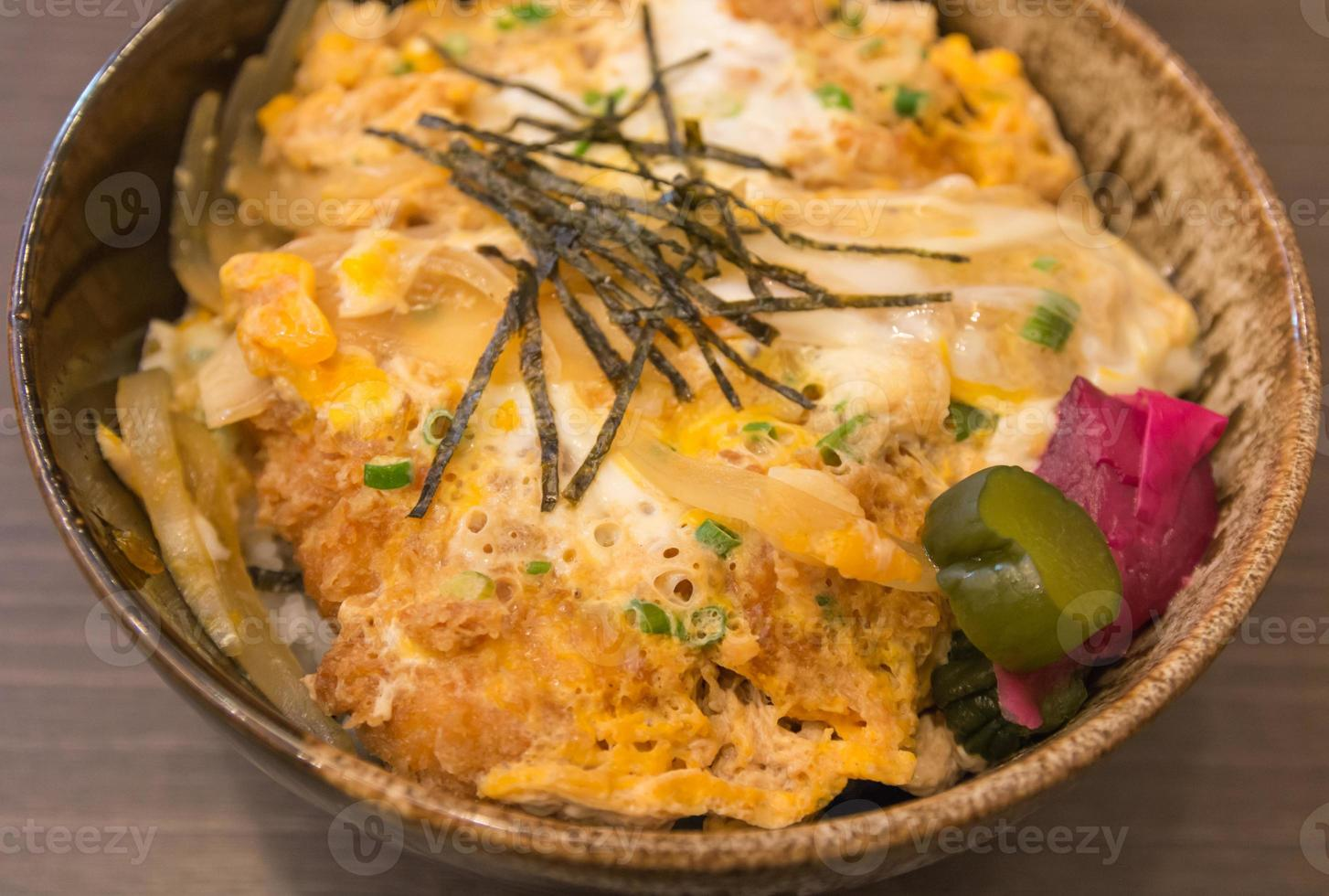 arroz de porco frito com ovo foto