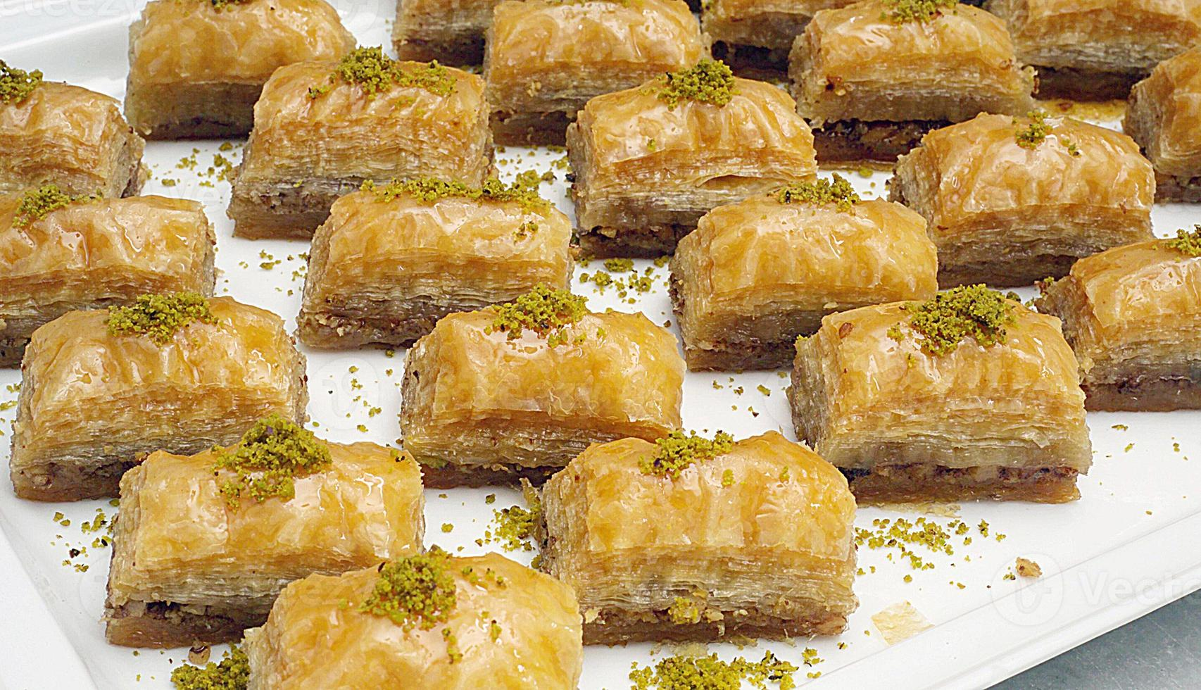 refeições. sobremesa, baklava turco foto