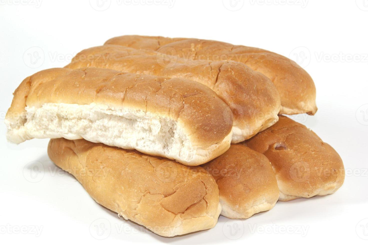 seis deliciosos pães assados no forno foto
