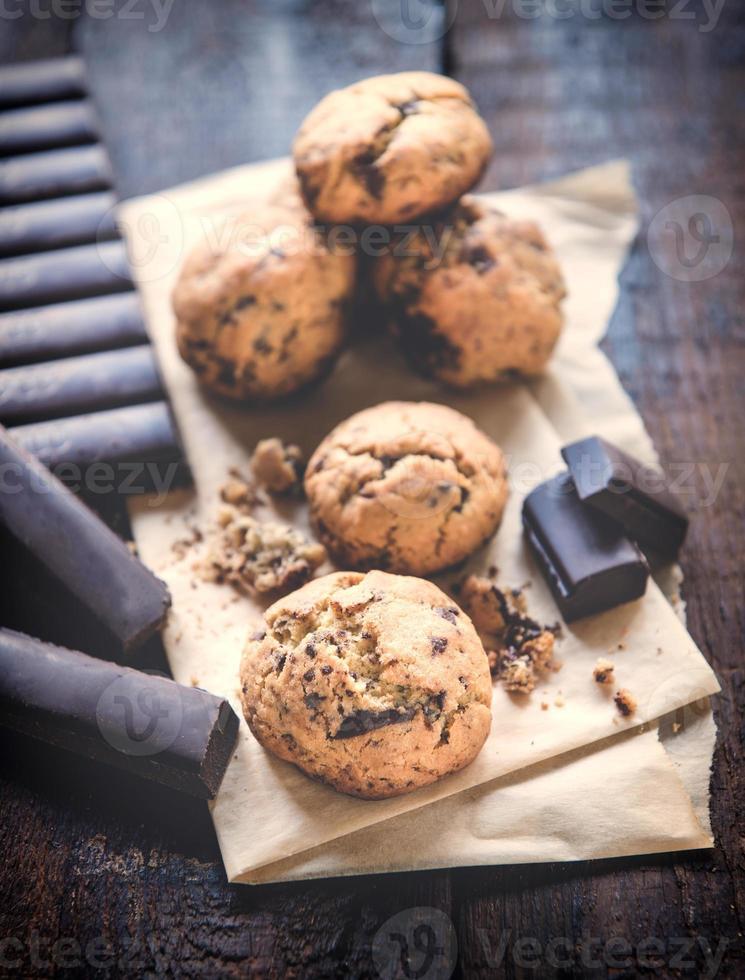 biscoitos de chocolate doce foto