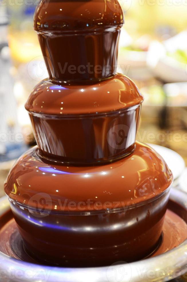 fonte de chocolate foto