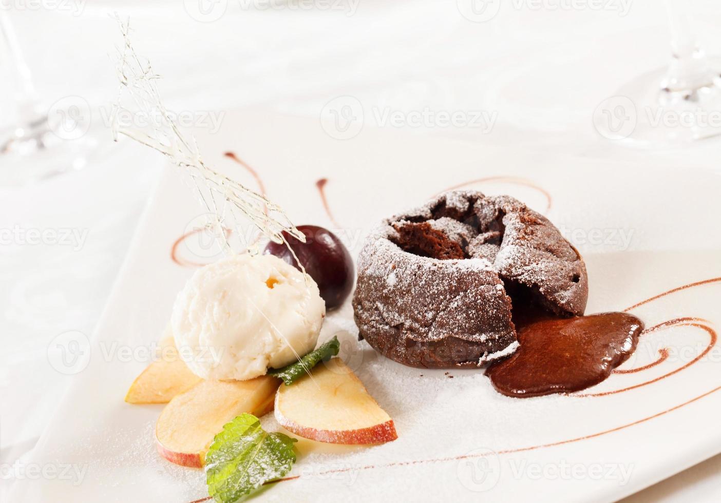sobremesa de chocolate foto