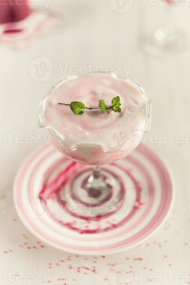 polvilha berry ingrediente natural batido foto