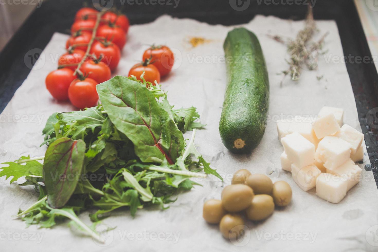 receita de salada foto