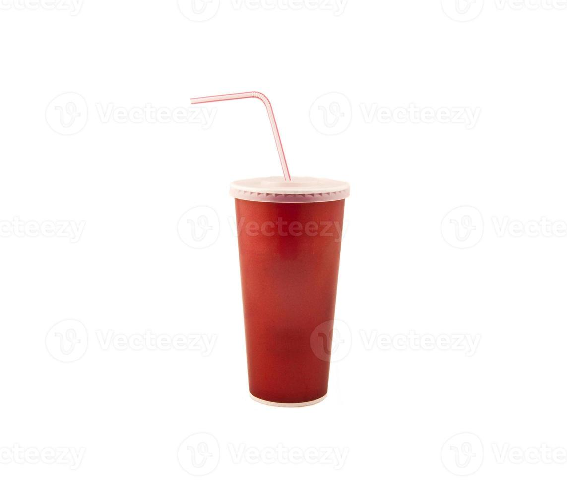 copo vermelho de fast-food foto