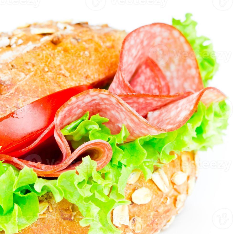 pão com salame foto
