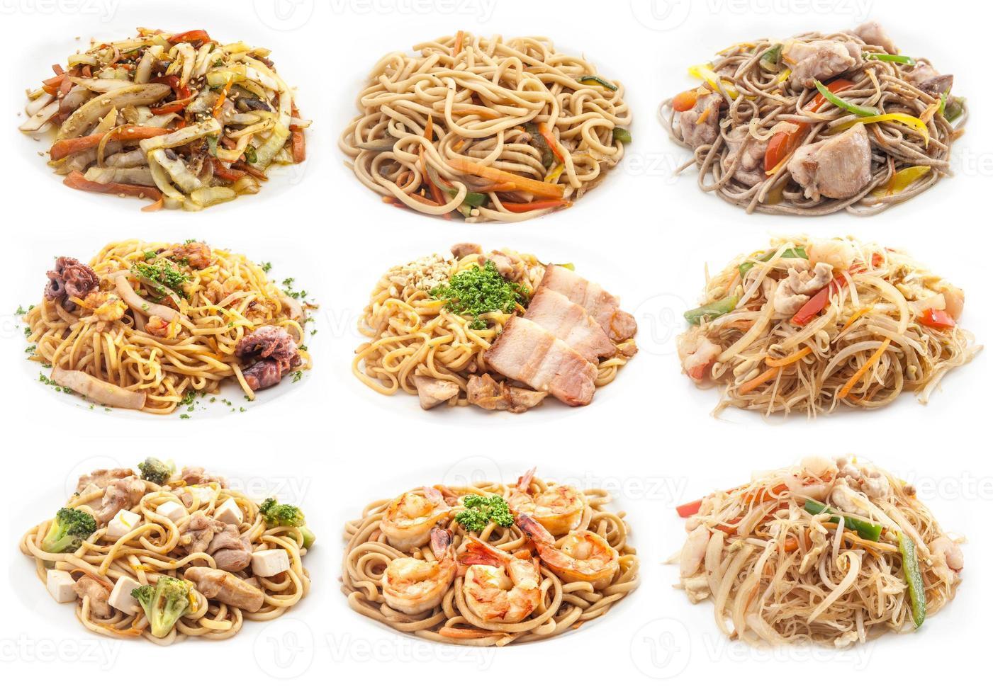 conjunto de alimentos de diferentes massas. foto