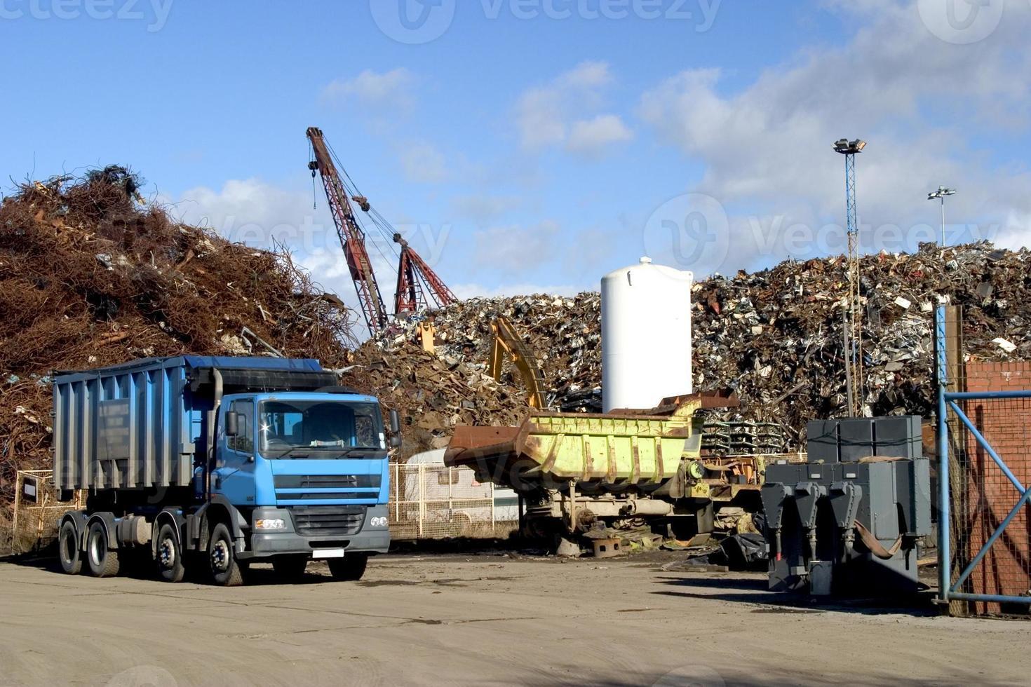 caminhão azul. foto