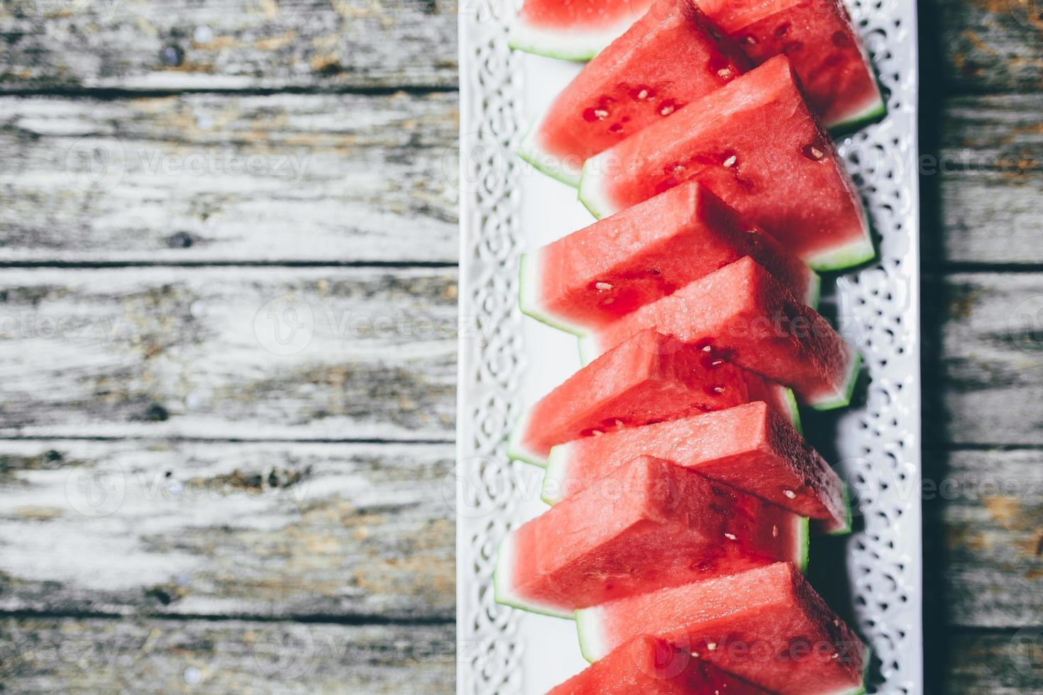 melancia cortada em triângulo foto