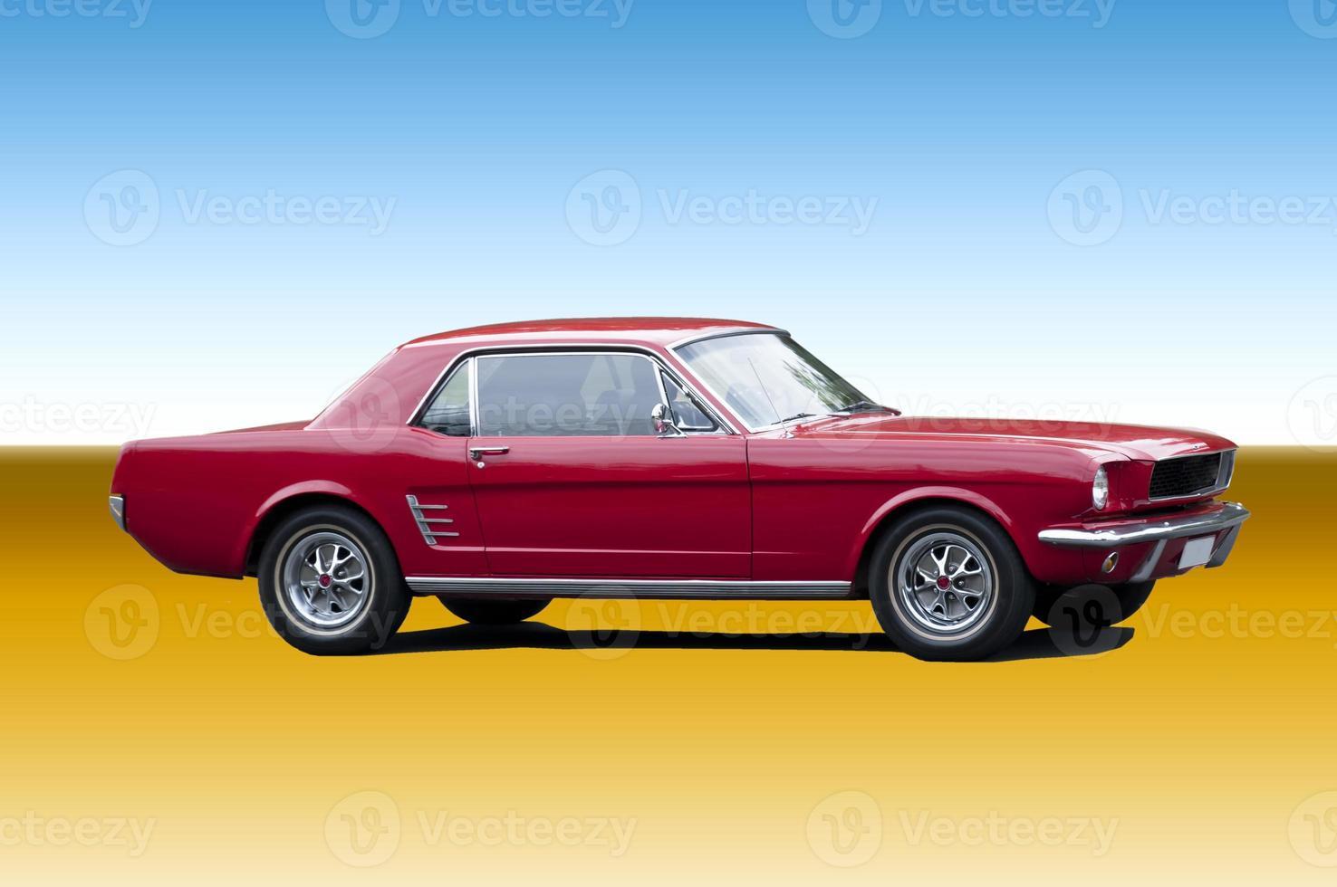 carro esporte clássico vermelho foto