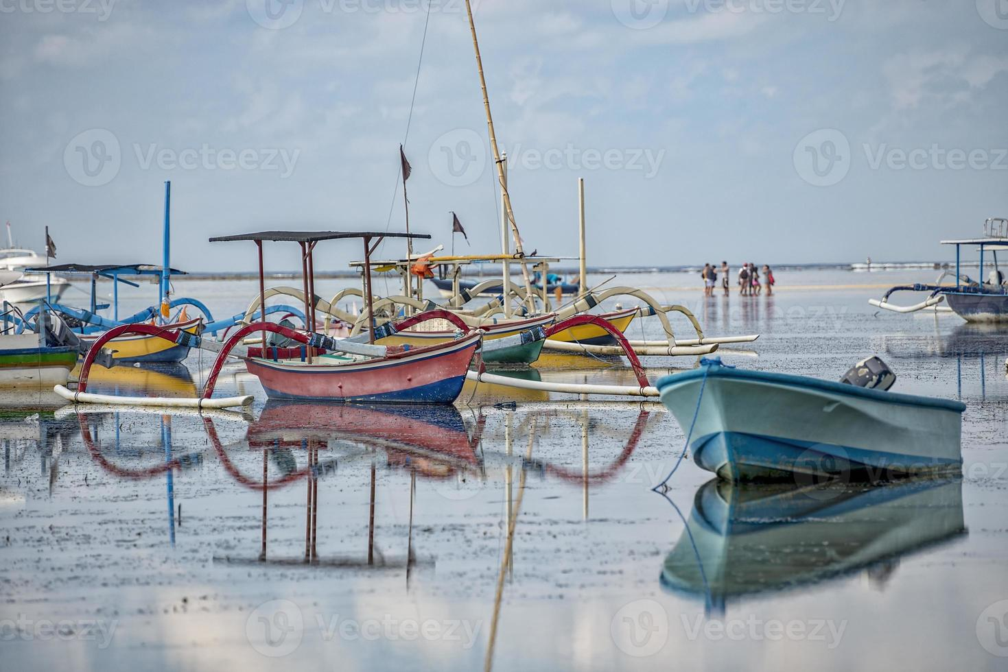 barcos de pesca indonésios foto