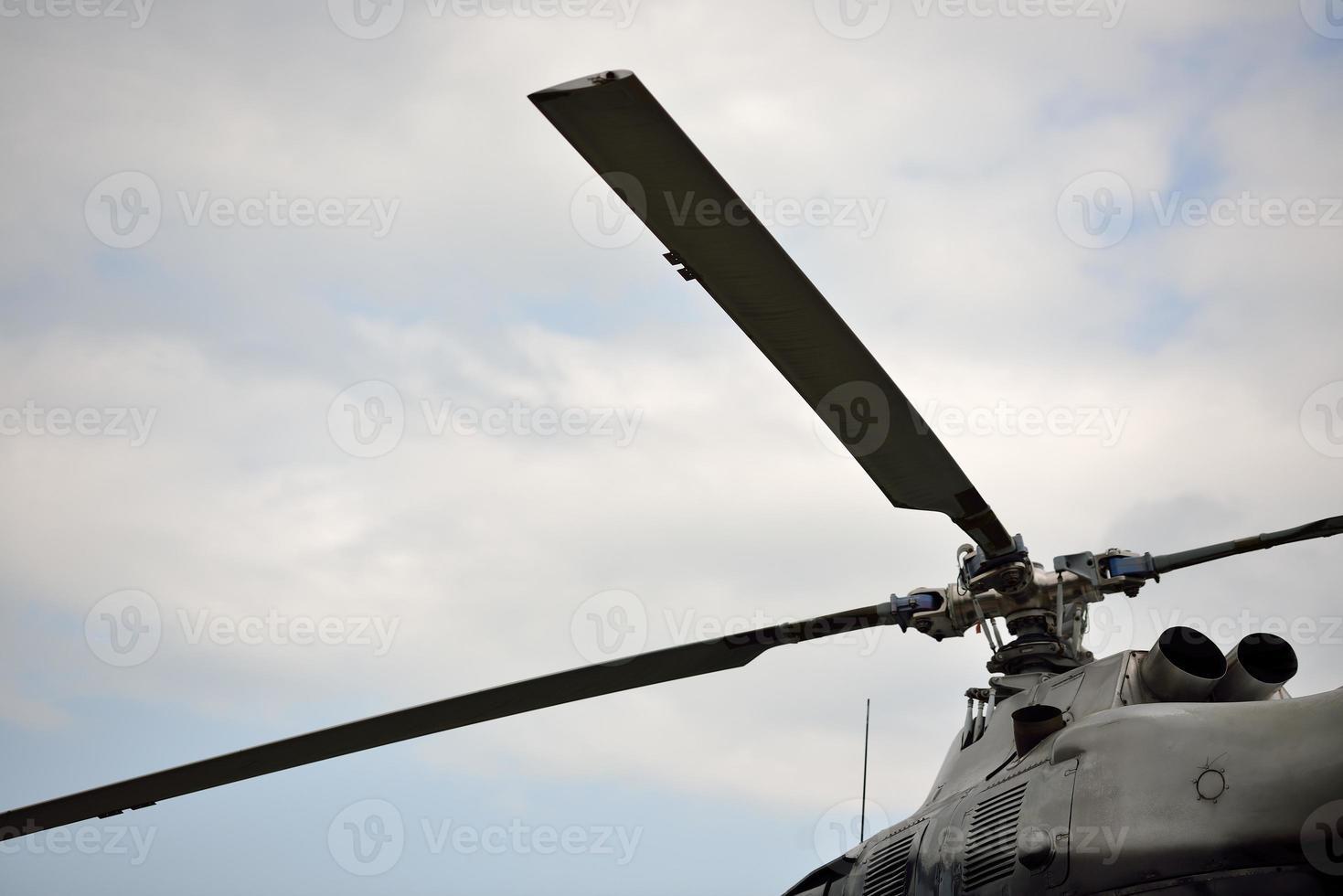 motor de helicóptero foto
