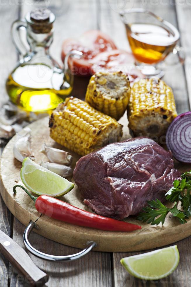 ingredientes para carne assada foto