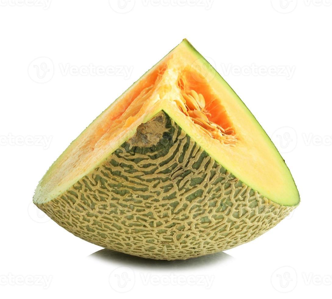 fatias de melão cantalupo foto