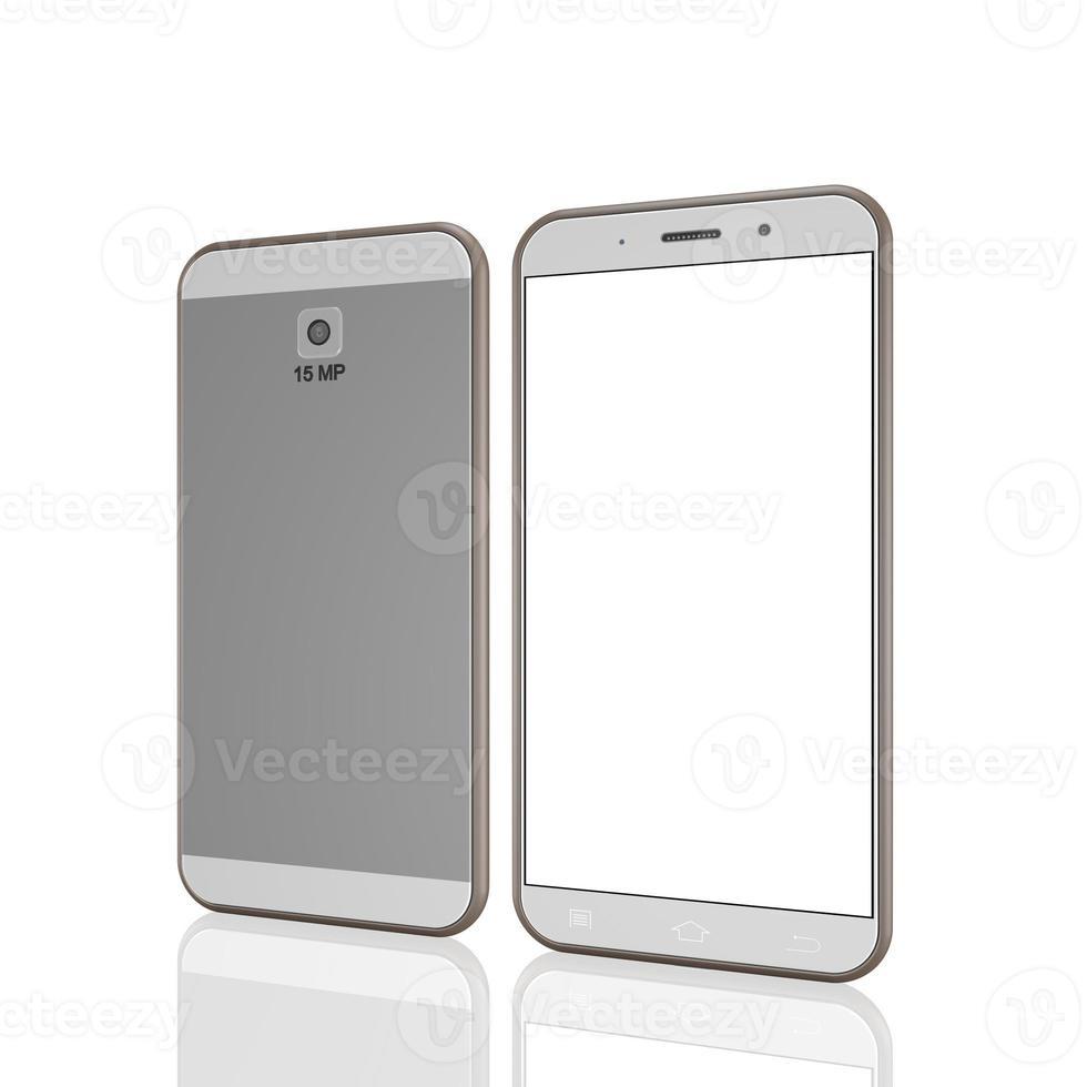 telefone móvel em fundo branco, ilustração de telefone celular foto