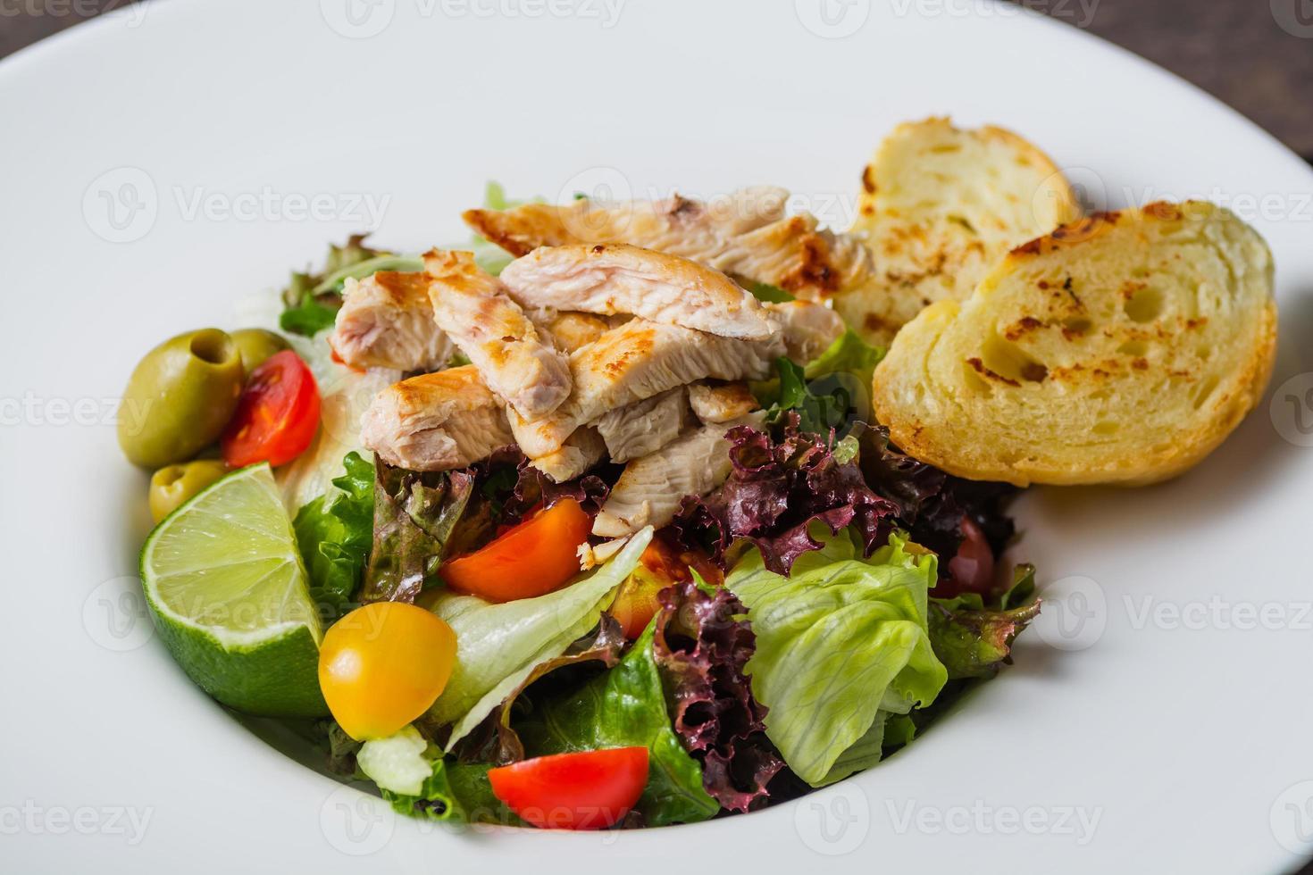 salada caesar close-up vista foto
