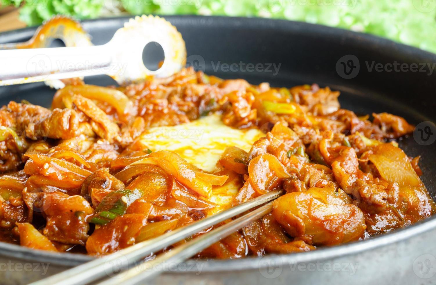 korean grill beef bulgogi foto