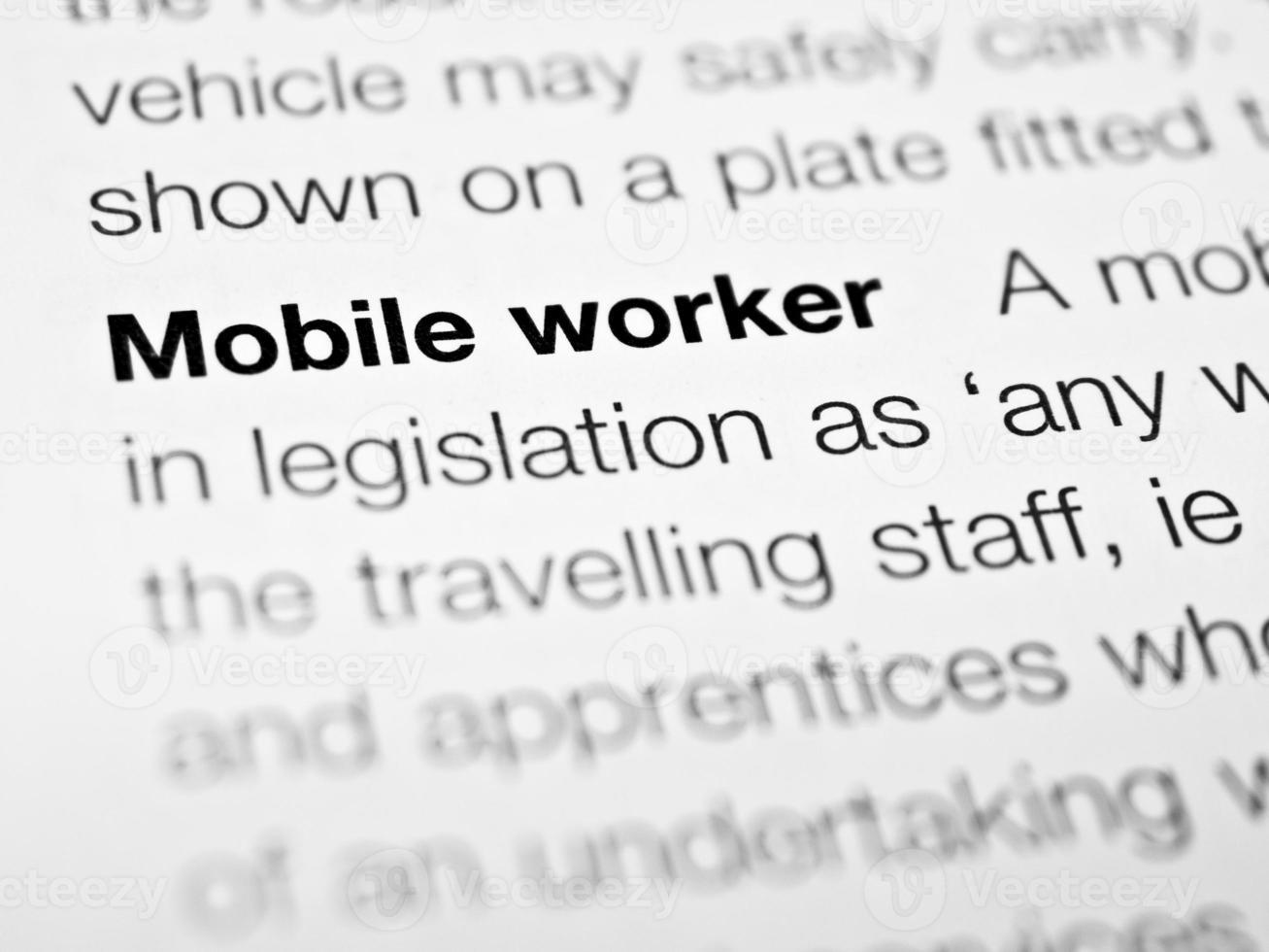 trabalhador móvel foto