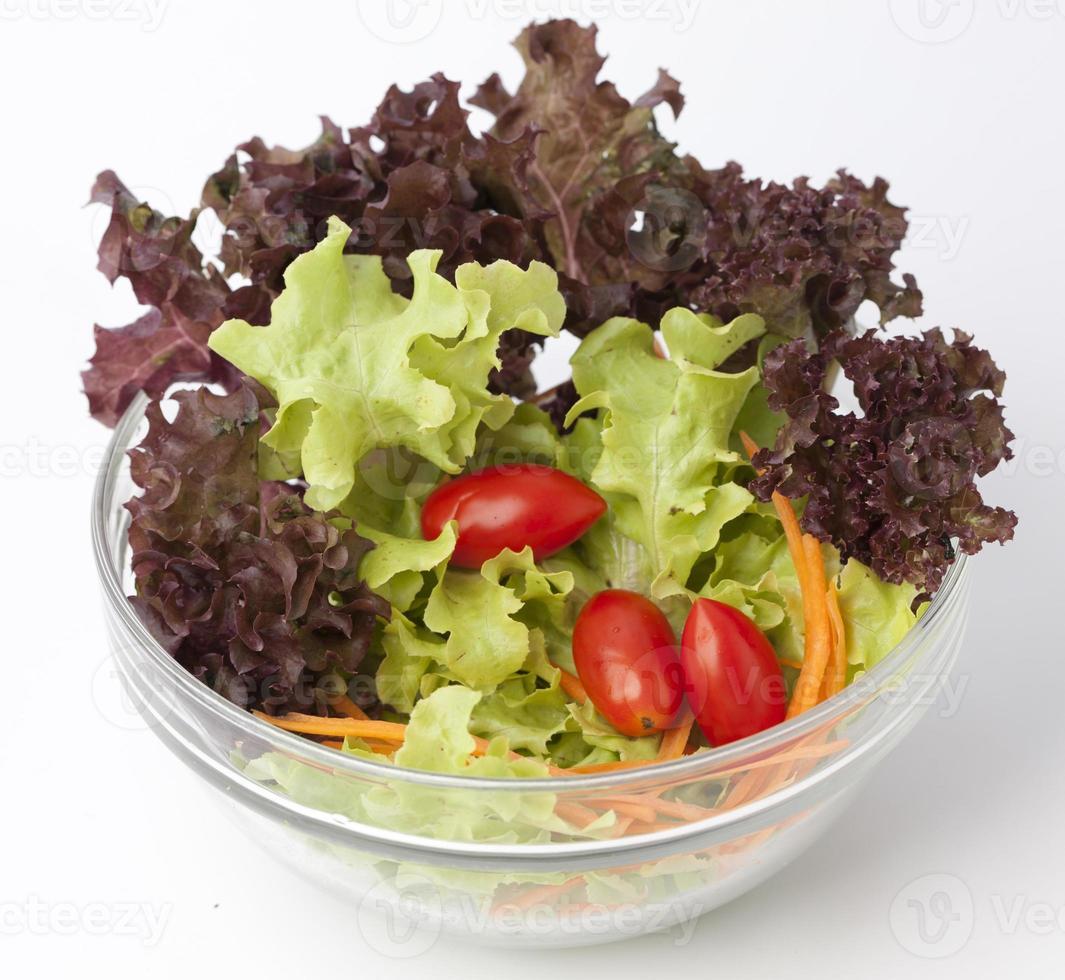 tigela de salada de legumes foto