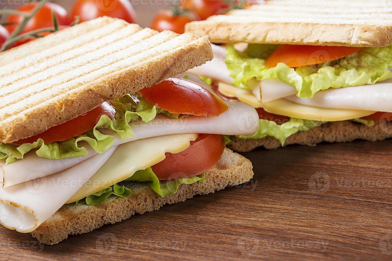 deliciosos sanduíches foto