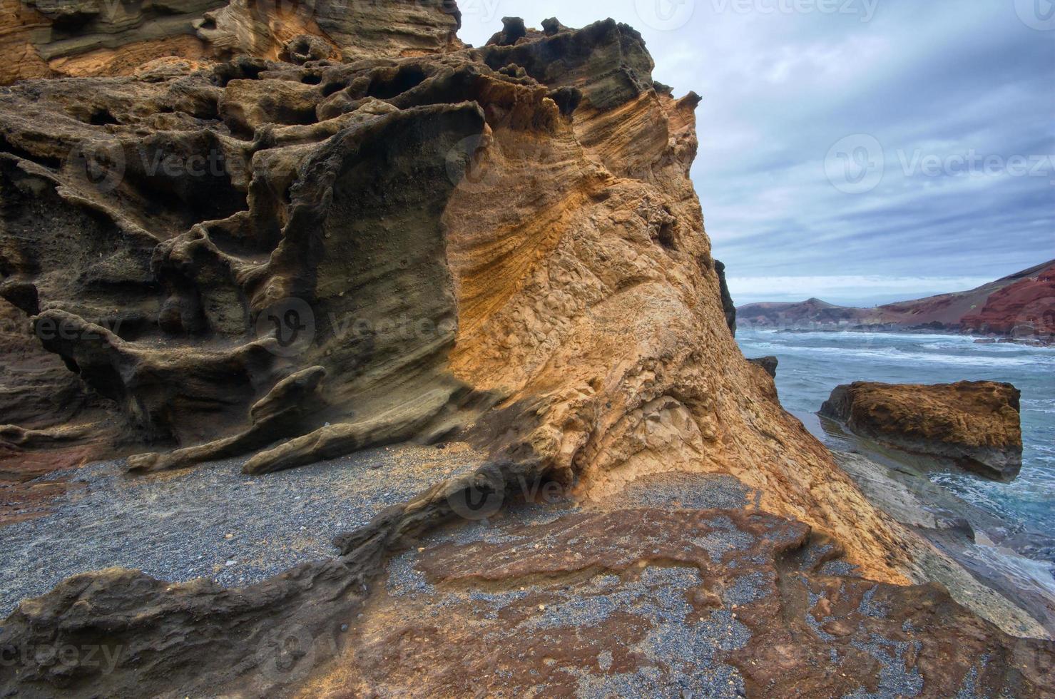 Rocha vulcânica foto