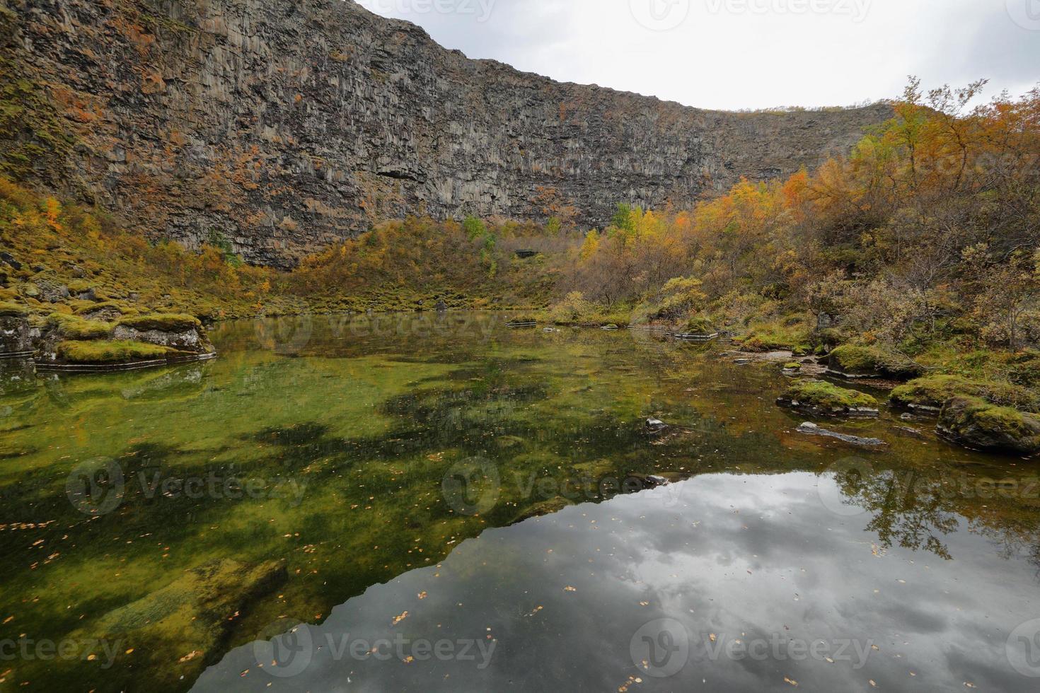 asbyrgi canyon foto