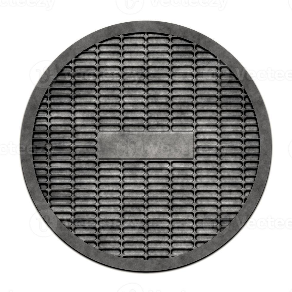 tampa metálica para esgoto (série de bueiros) foto