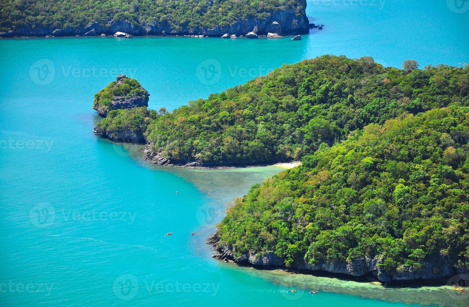 parque marinho nacional ang thong, koh samui, tailândia foto