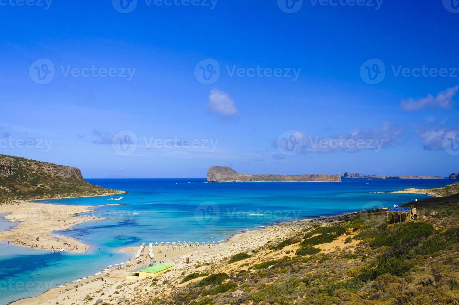 vista incrível sobre a lagoa de balos em Creta, Grécia foto