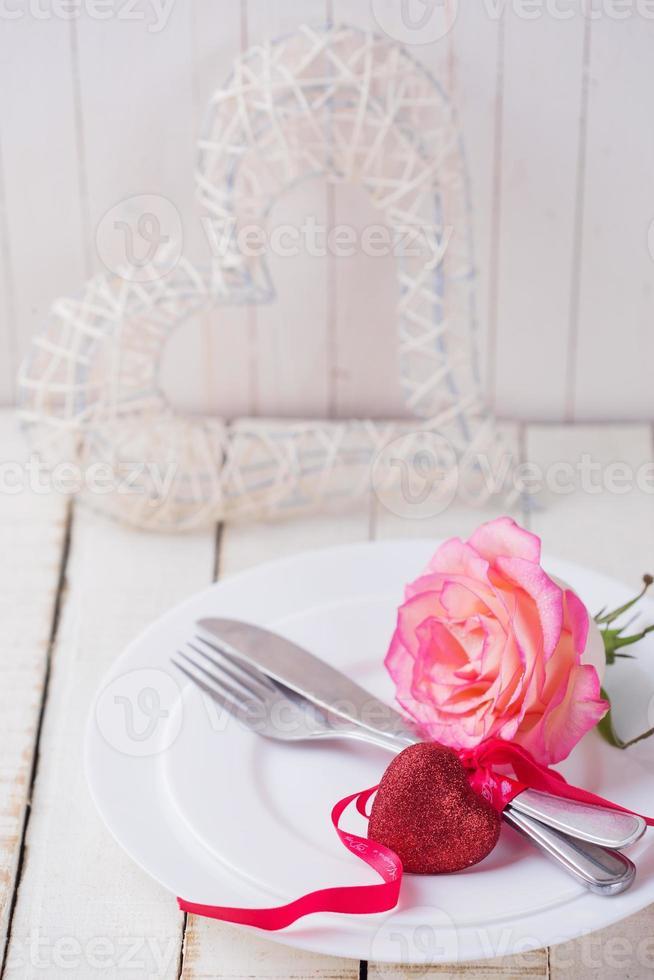 configuração de mesa romântica foto