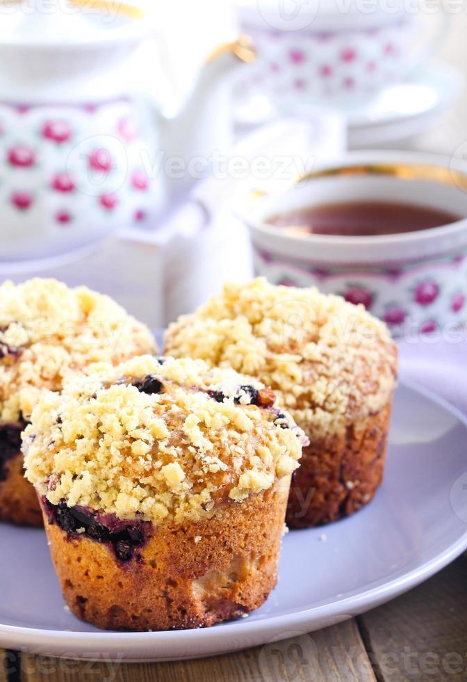 muffins de frutas vermelhas foto