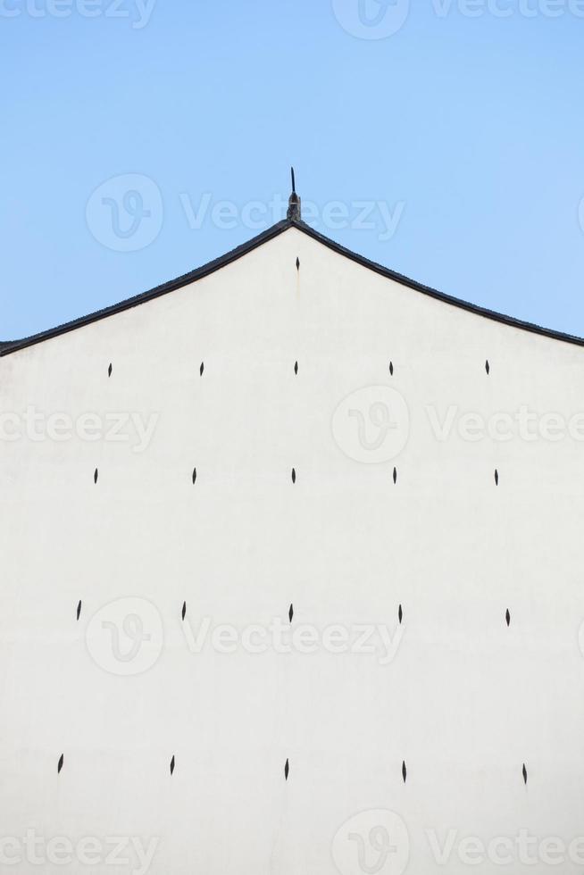 parede da casa chinesa tradicional foto