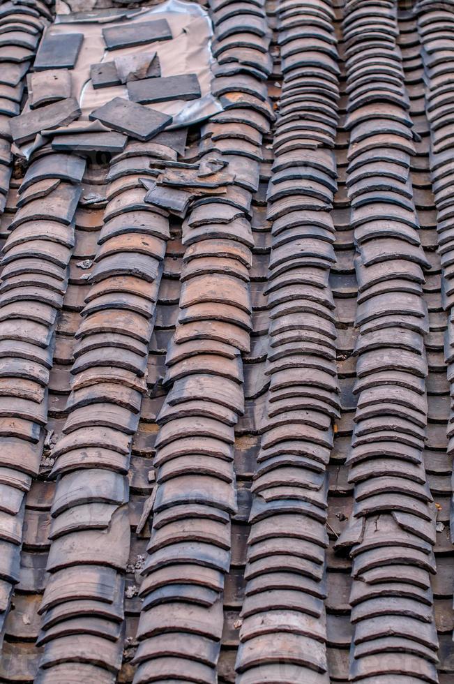 telhas chinesas tradicionais foto