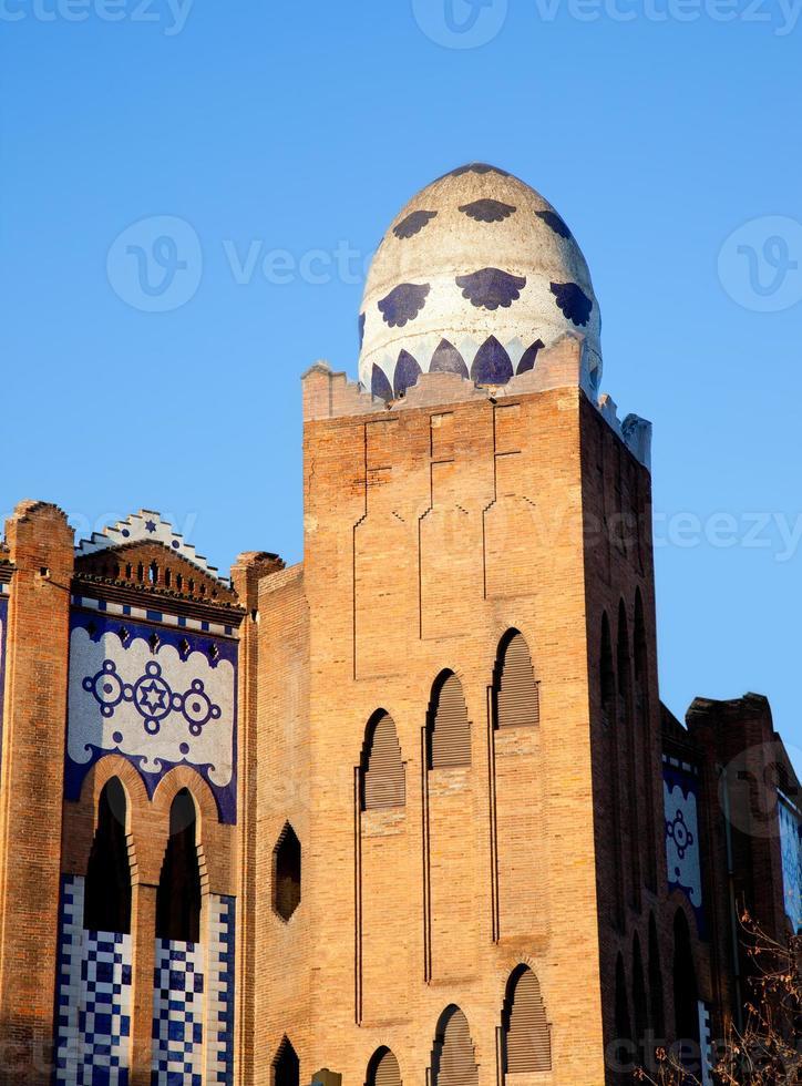 praça de touros de barcelona la monumental mosaico ovo foto