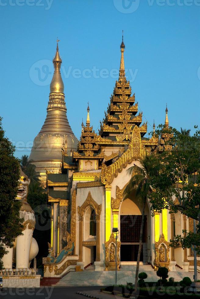 pagode shwedagon, yangon. foto