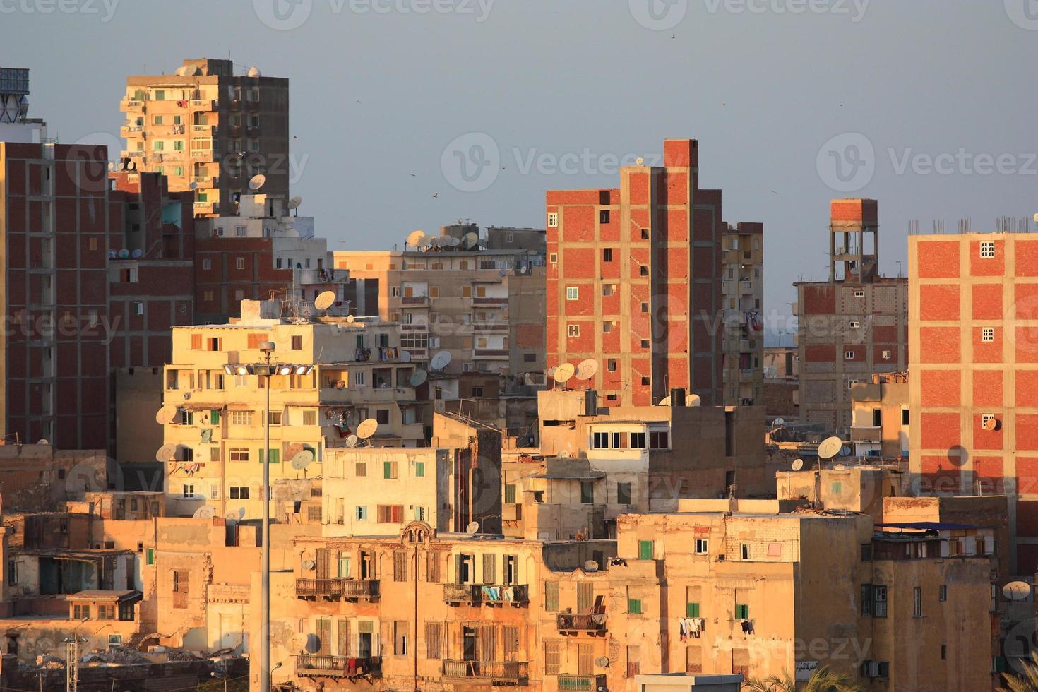 favelas de alexandria, egito foto