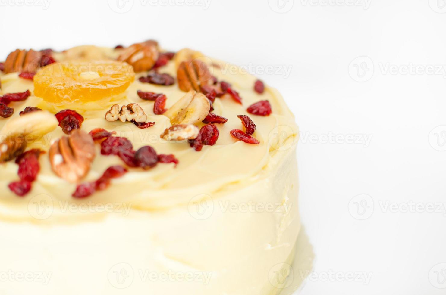 parte superior do bolo beija-flor foto