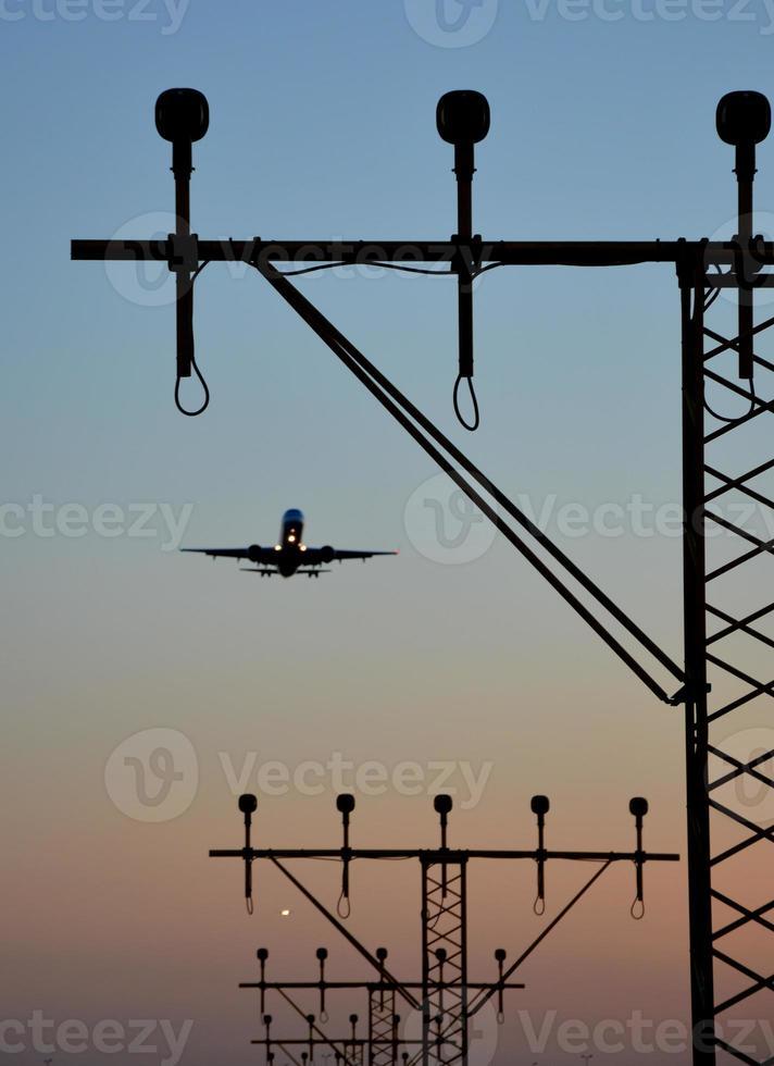 aeroporto abordagem desembarque direção luz foto