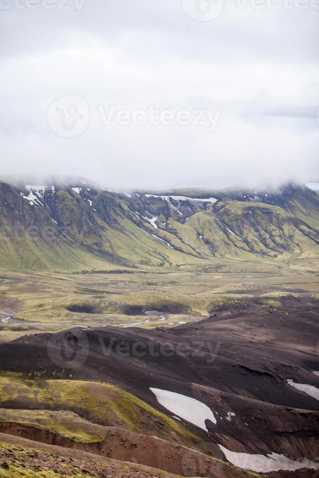 paisagem vulcânica - landmannalaugar, islândia foto