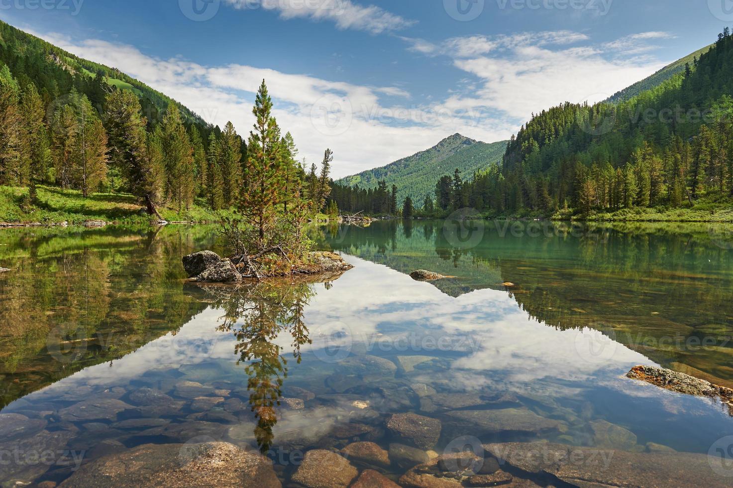 paisagem de verão linda, montanhas altai na rússia. foto
