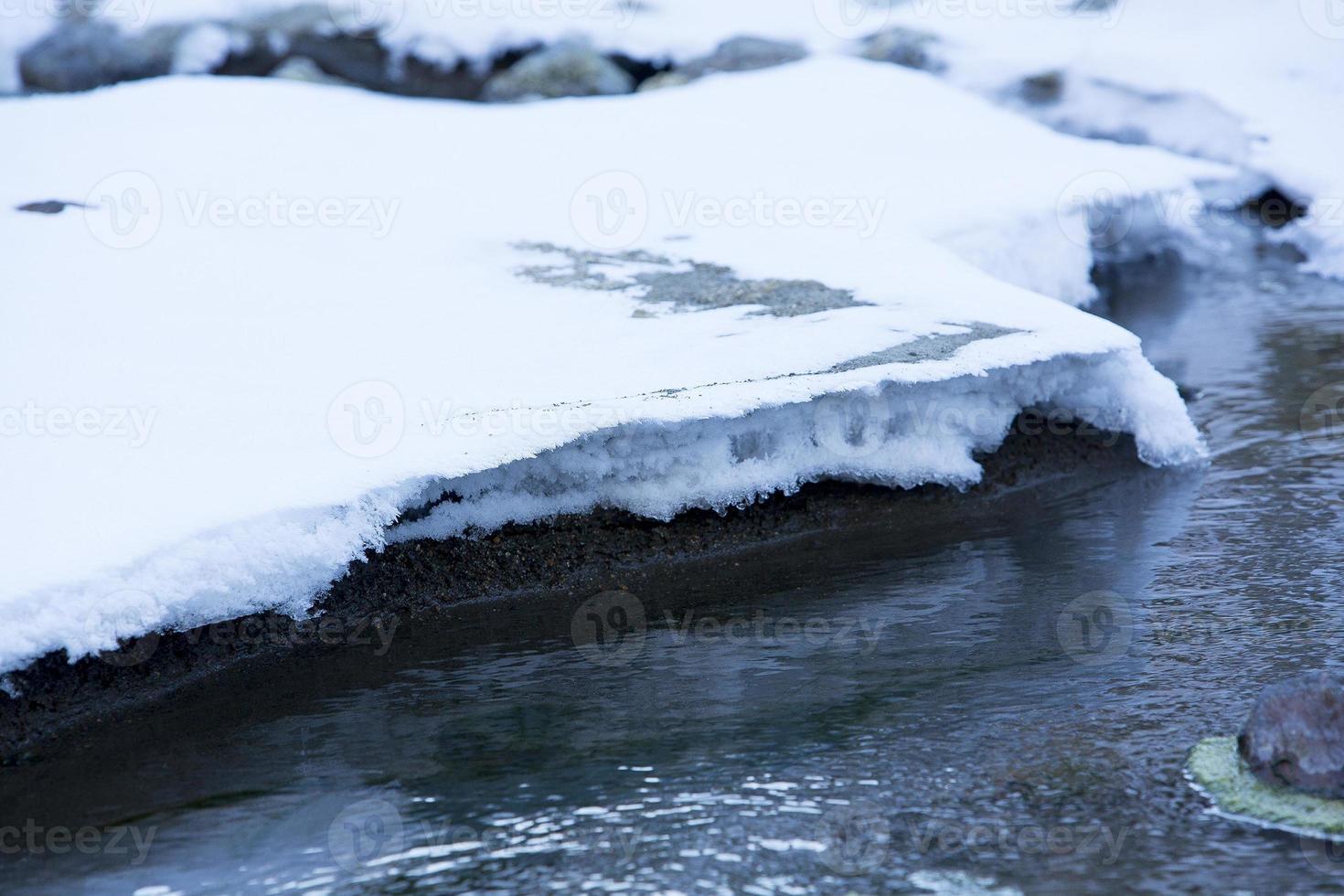 riacho de inverno foto