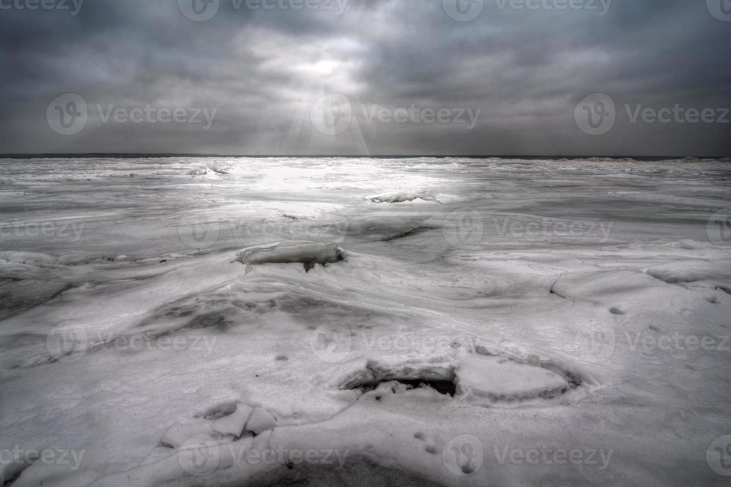 inverno no lago erie foto