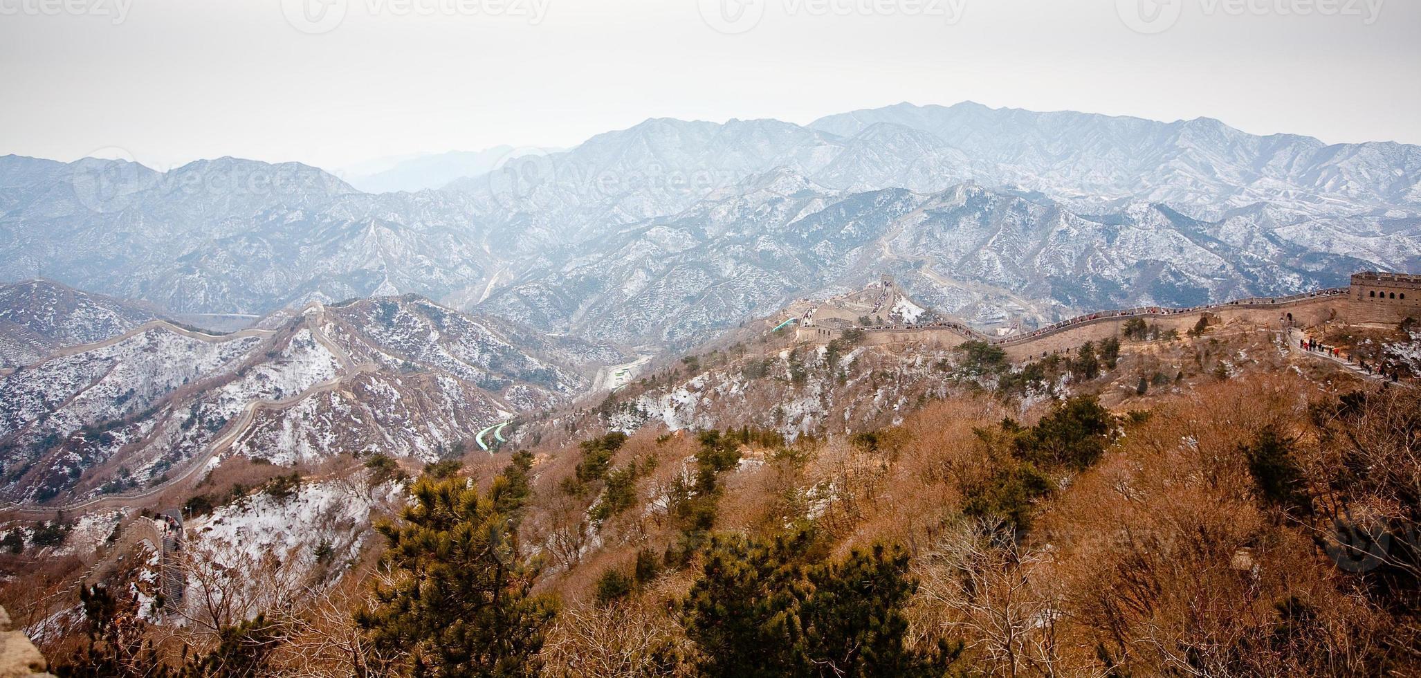 grande muralha da china no inverno foto