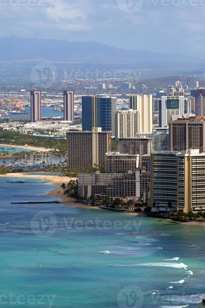 praia de waikiki, honolulu, oahu, havaí foto