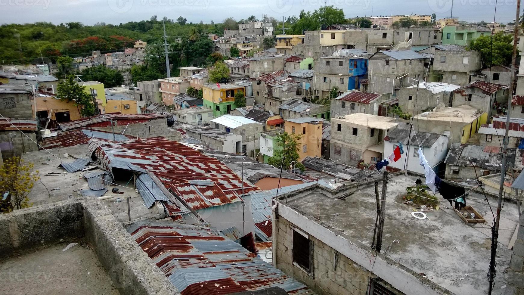 bairro de favelas na república dominicana foto
