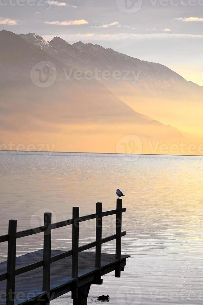 lago de garda, itália foto