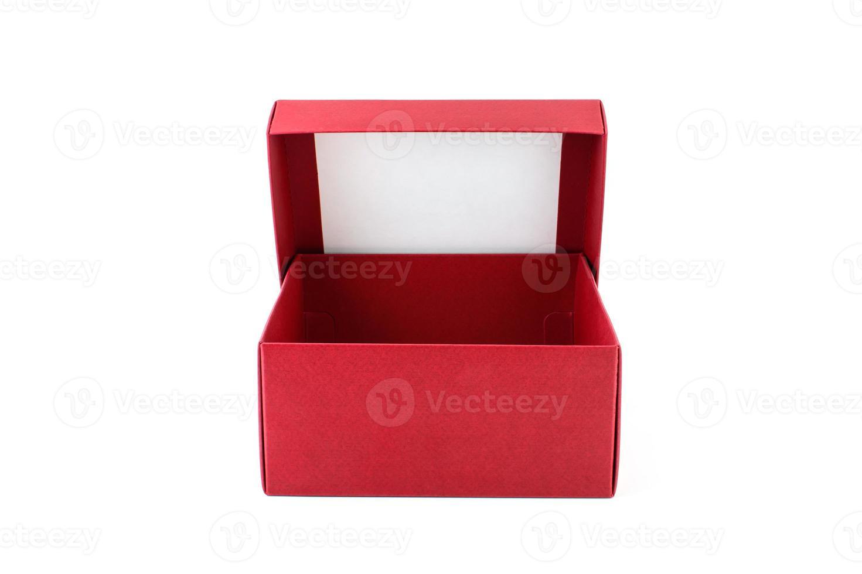 caixa vermelha aberta foto