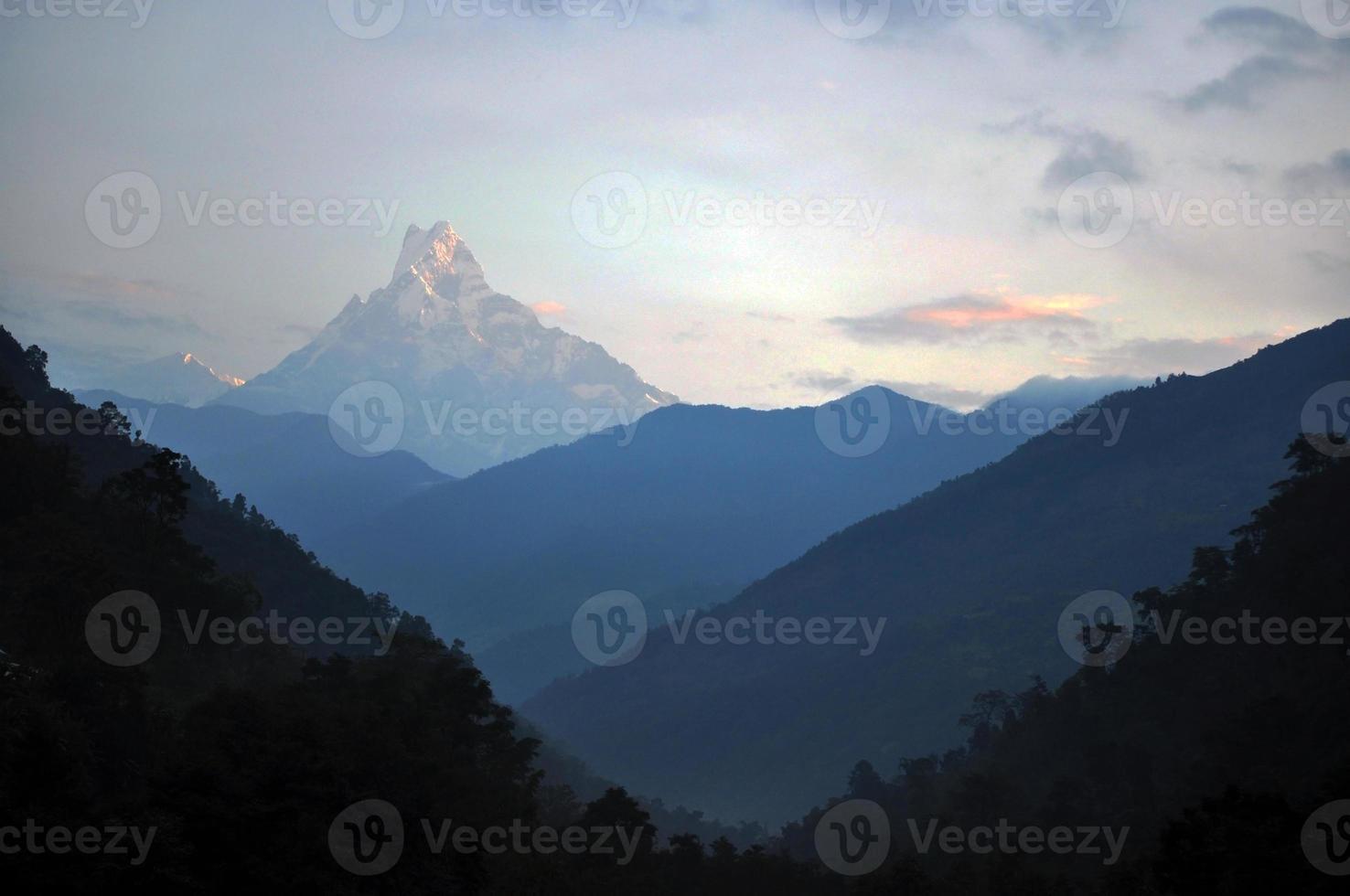 maciço annapurna. Nepal. foto