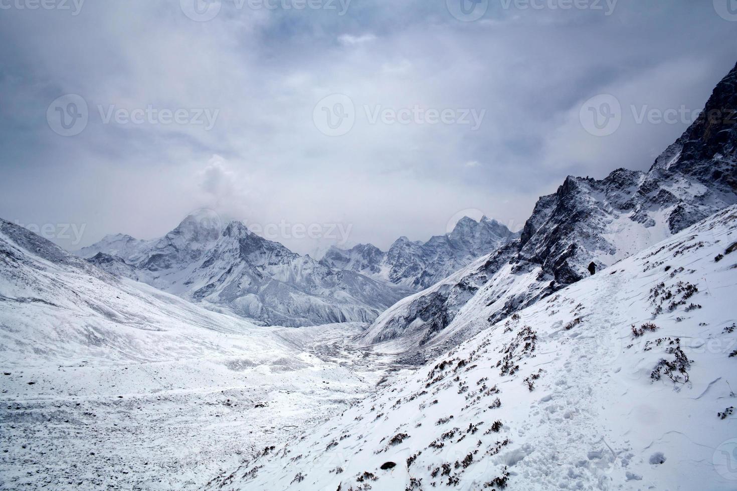 parque nacional sagarmatha, nepal himalaia foto