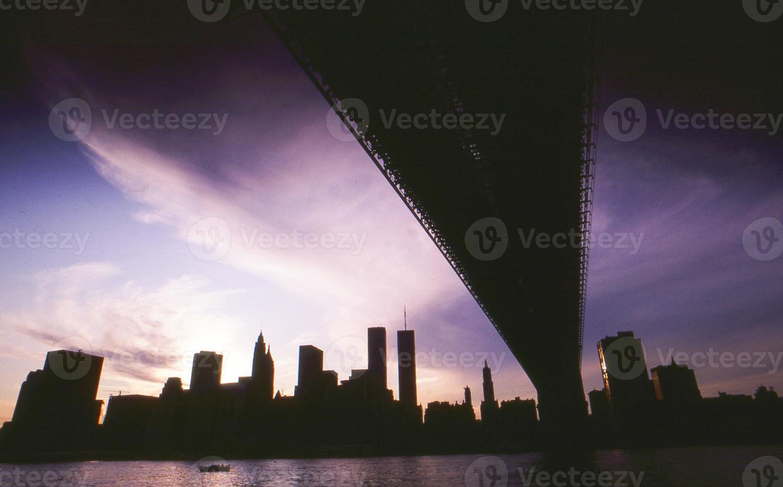 ny skyline durante apagão foto